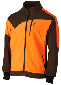 JACKET, POWERFLEECE ONE ZIPPIN, GREEN ORANGE